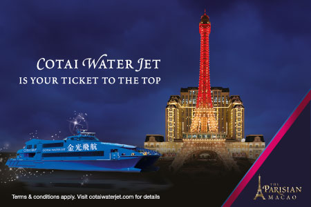 Cotai  Water Jet is your ticket to the top